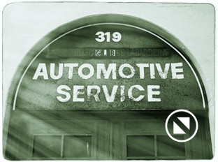 Automotive service sign treated with the Alien Skin Photo Bundle, example 2