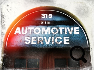 Automotive service sign treated with the Alien Skin Photo Bundle, example 4