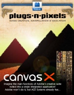 Plugs 'N Pixels ezine issue #3, Photoshop, plugins, plug-in, digital imaging, acdsee, acd, canvas x, silver oxide, nik dfine, photofx, digital film lab, icorrect editlab, synthetik, studio artist, asiva, sharpen, soften, color correction, selection, kodak, digital gem, airbrush