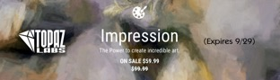 Save $40% off Topaz Impression through 9/29