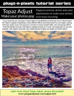 PDf tutorial covering the functionality of the Topaz Adjust Photoshop plug-in